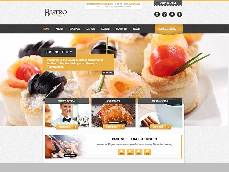 Bistro - Best WordPress Restaurant Themes