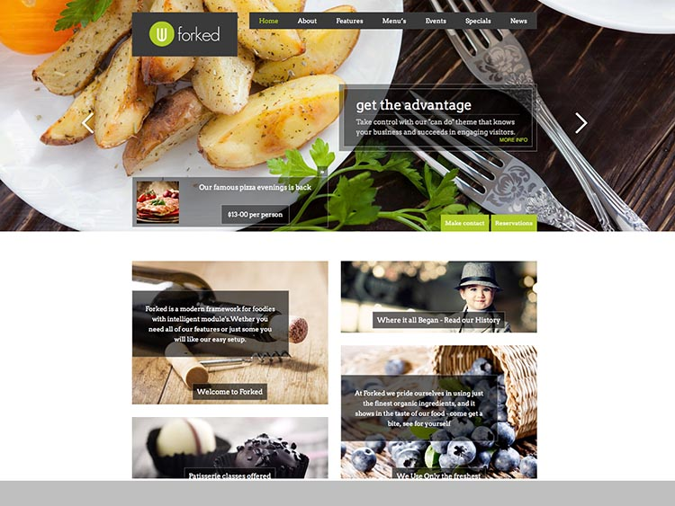 Forked - Best WordPress Restaurant Themes