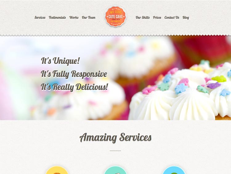 CuteCake - Best WordPress Cake Shop and Bakery Themes