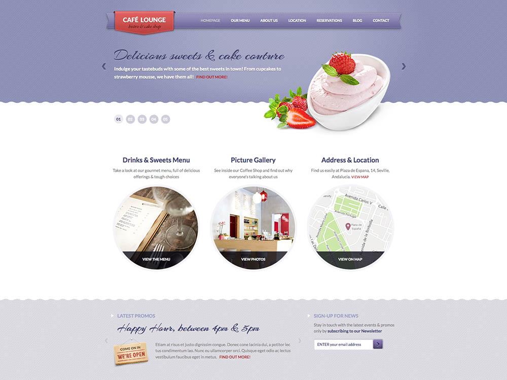 Coffee Lounge - Best WordPress Cafe Themes