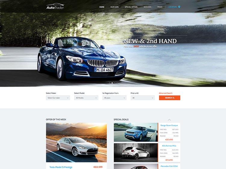 Autotrader - Best WordPress Car Dealer Themes