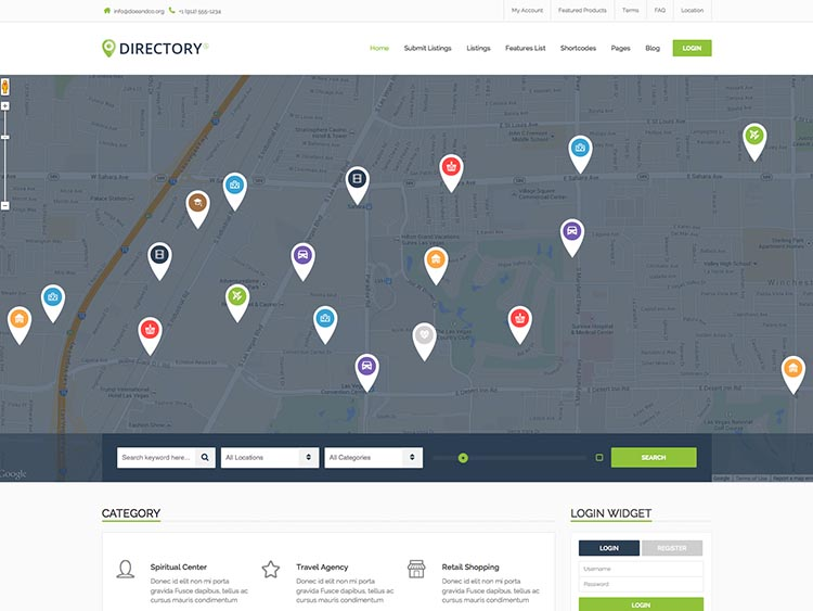 A best-selling business directory theme for WordPress