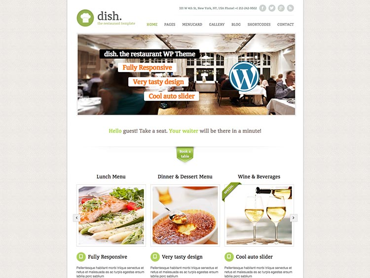 Dish - Best WordPress Restaurant Themes