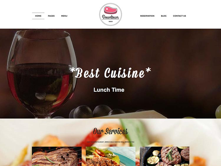 Downtown - Best WordPress Restaurant Themes