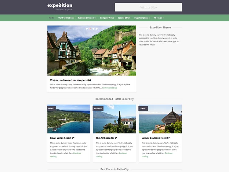 - Best WordPress City Guide Themes