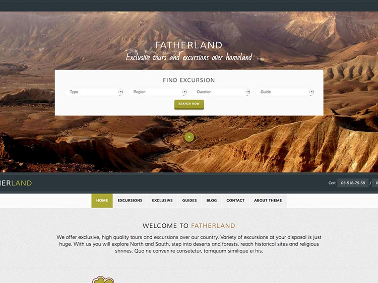 Fatherland - Best WordPress Tourism Themes