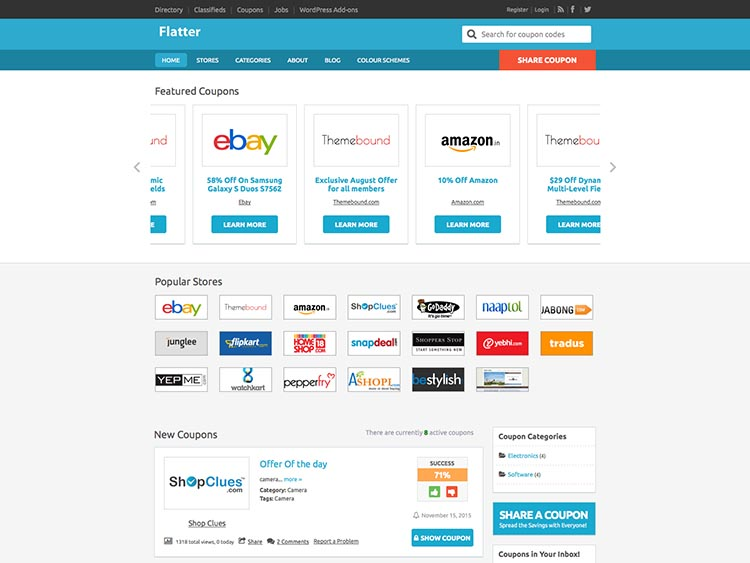 Flatter - Best WordPress Coupon Themes