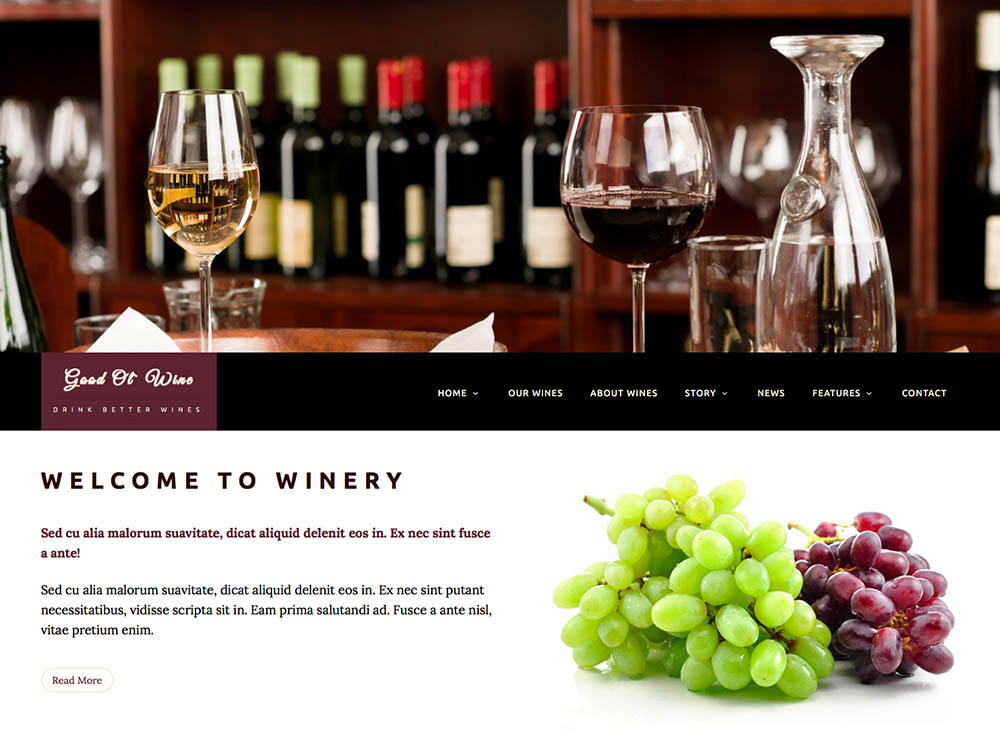 Good_Ol`_Wine - Best WordPress Wine Themes