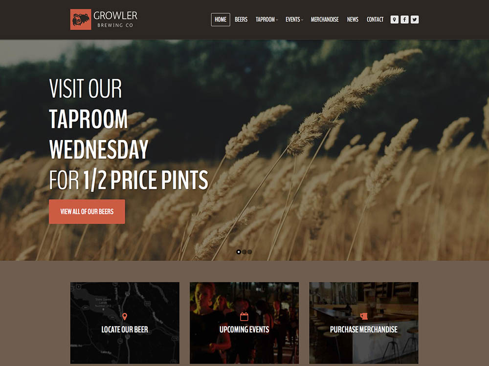 Growler - Best WordPress Brewery Themes