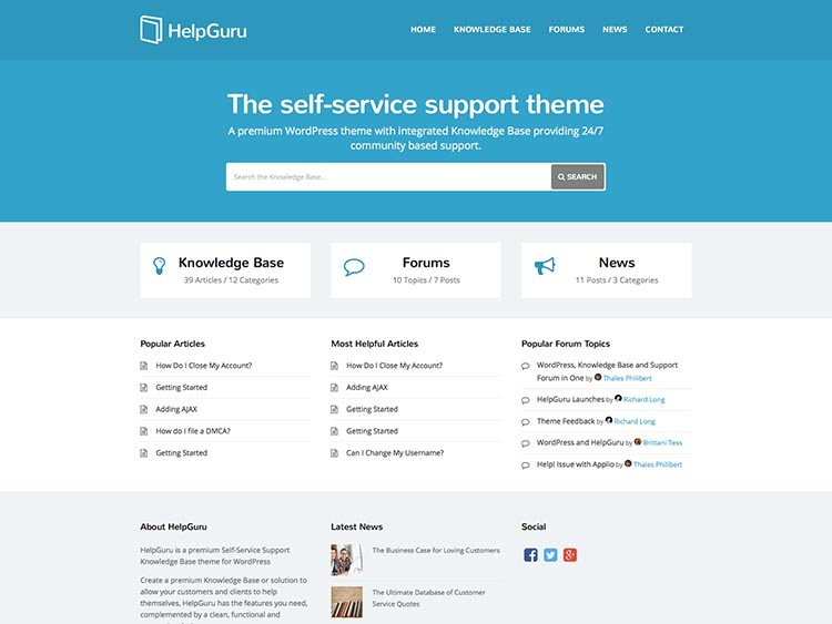 HelpGuru - Best WordPress HelpDesk Themes