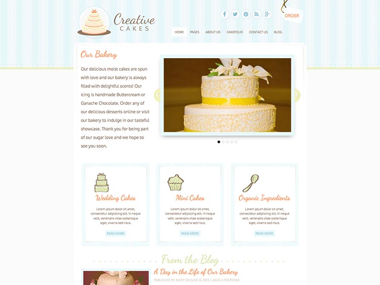 Creative Cakes - Best WordPress Cake Shop and Bakery Themes