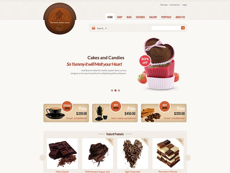 Chocolate - Best WordPress Cake Shop and Bakery Themes