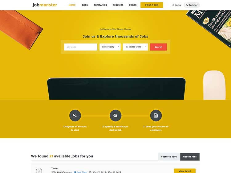 JobMonster Job Board Theme for WordPress
