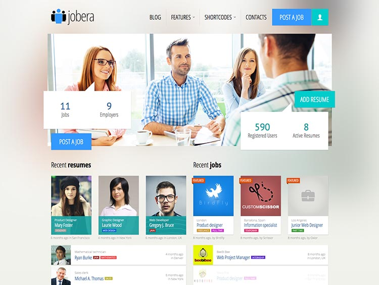Jobera - Best WordPress Job Board Themes