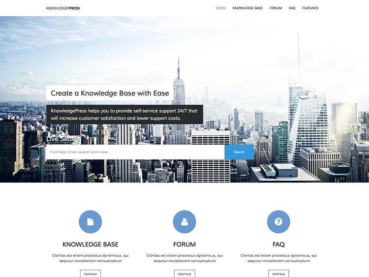 KnowledgePressBest WordPress Knowledge Base Themes