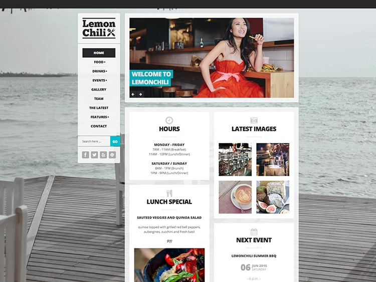 Lemon Chill - - Best WordPress Restaurant Themes