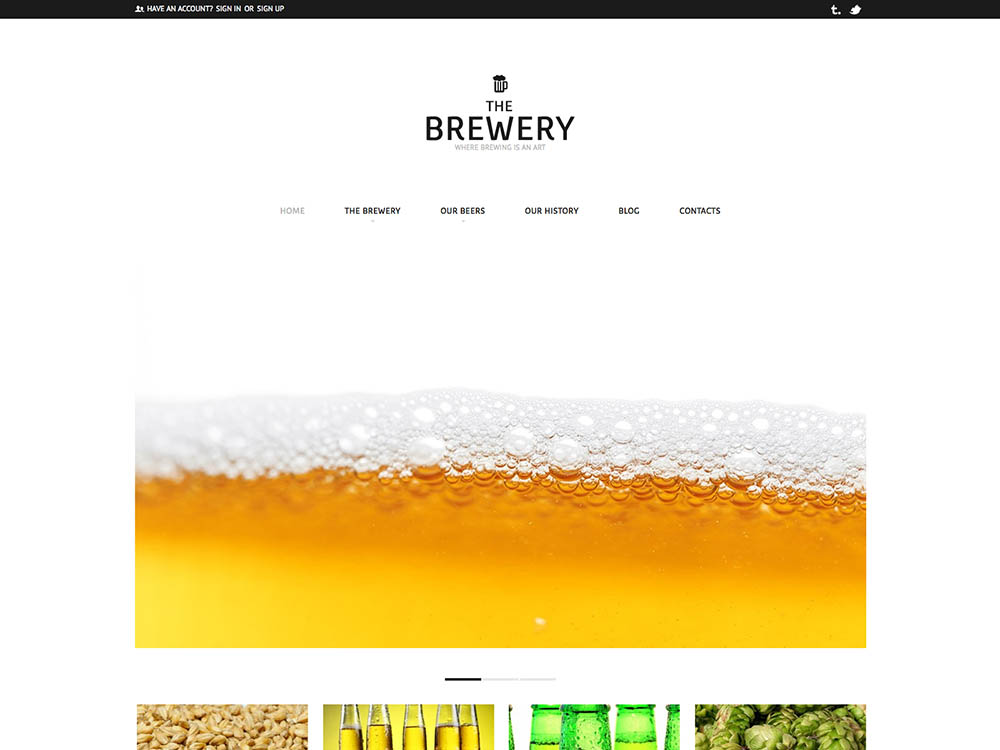 The Brewery Theme by TemplateMonster - Best WordPress Brewery Themes