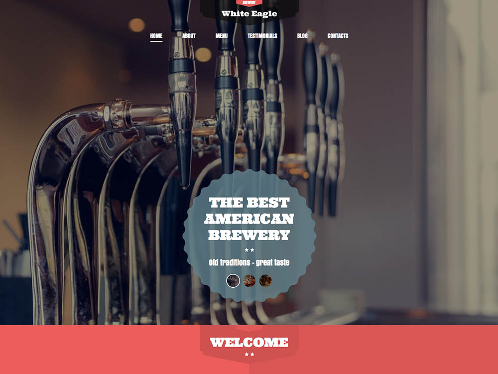 American White Eagle - - Best WordPress Brewery Themes