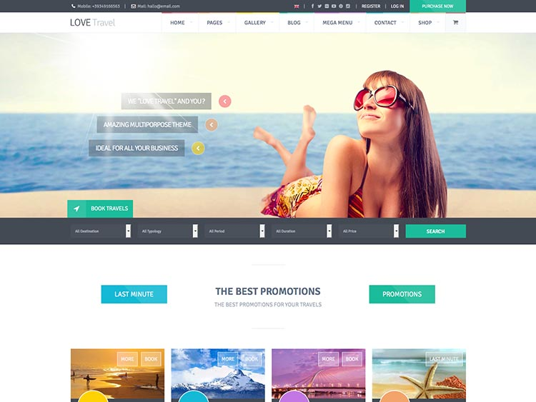 The best WordPress travel agency themes