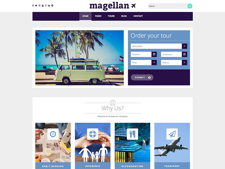 Magellan - Best WordPress Travel Agency Themes