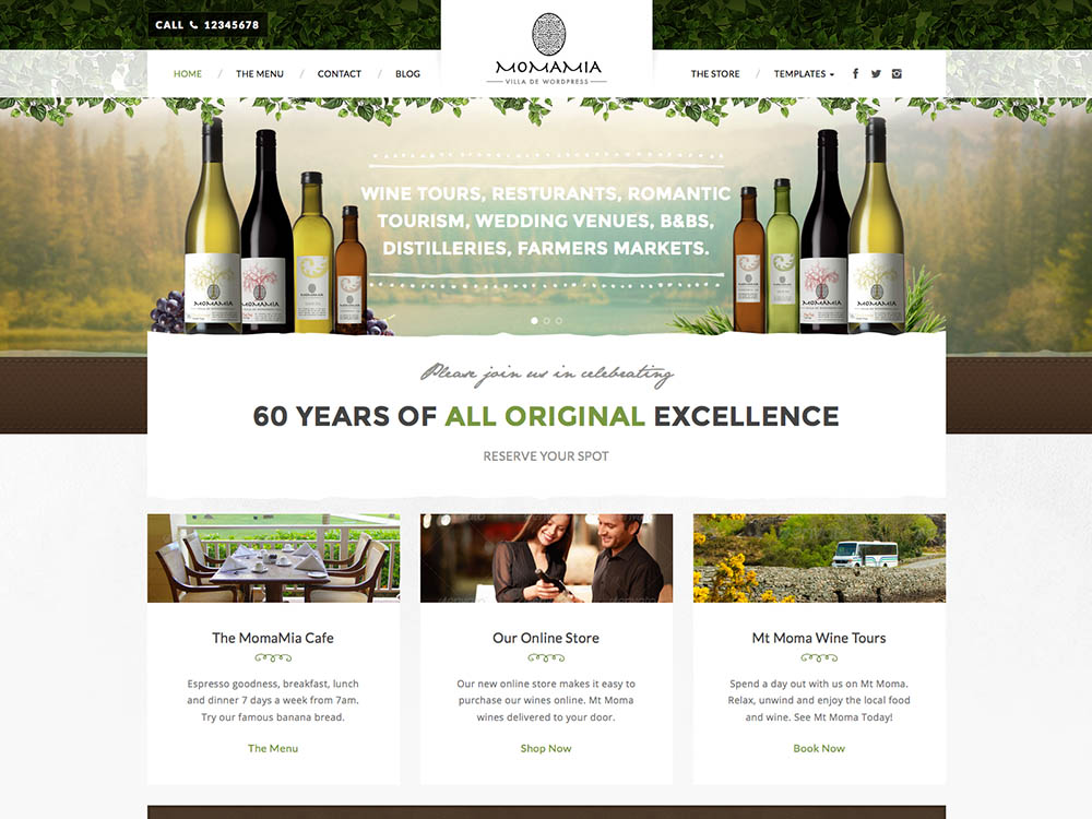 Best WordPress vineyard and winery theme