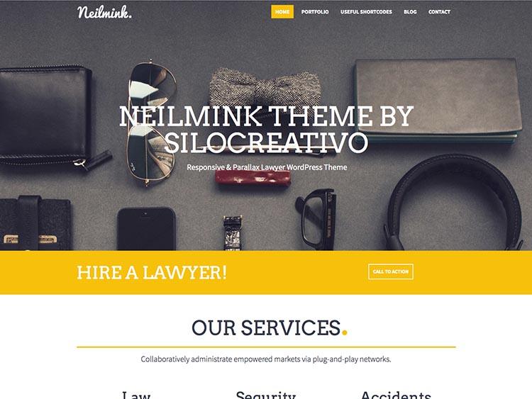 Neilmink - Best WordPress Law Firm Themes