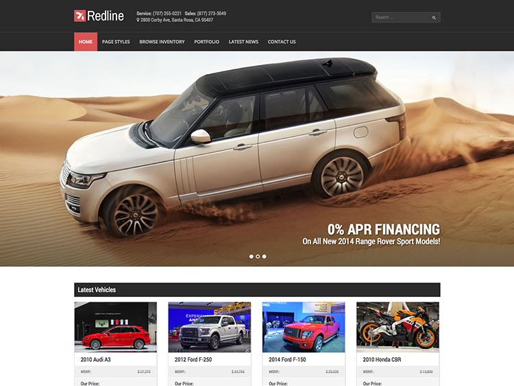 Redline - Best WordPress Car Dealer Themes