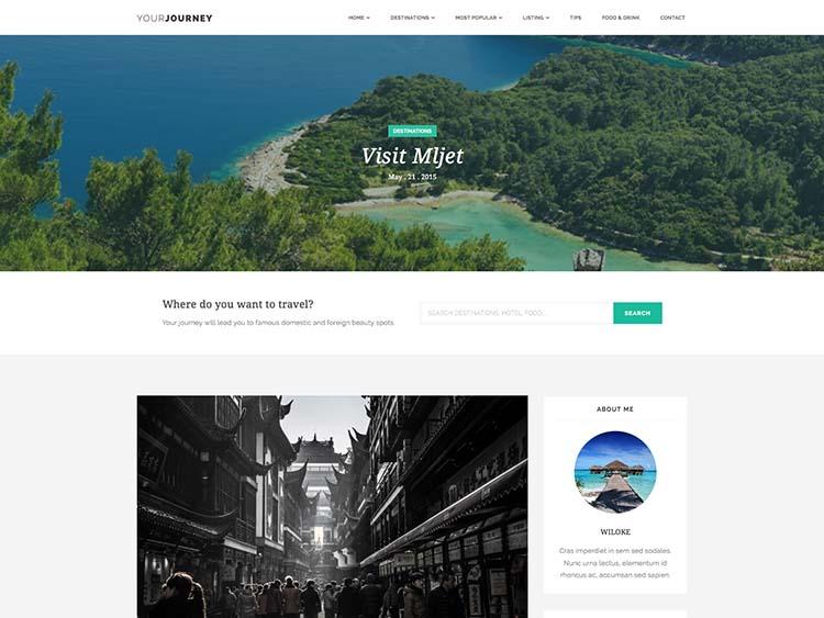 Your Journey Travel Blog Theme