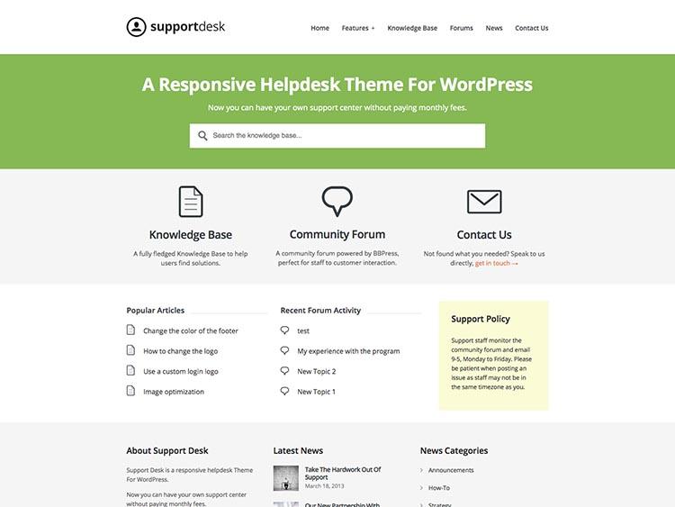 SupportDesk Best WordPress HelpDesk Themes