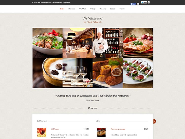 - Best WordPress Restaurant Themes