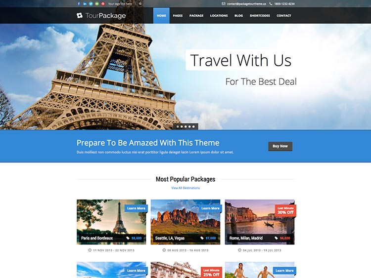Tour Package - Best WordPress Tourism Themes