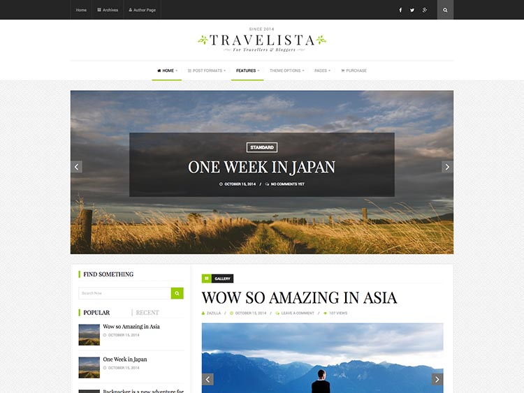 18+ Best WordPress Travel Blog Themes for 2018 - Siteturner