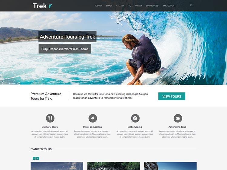Trek - Best WordPress Tourism Themes
