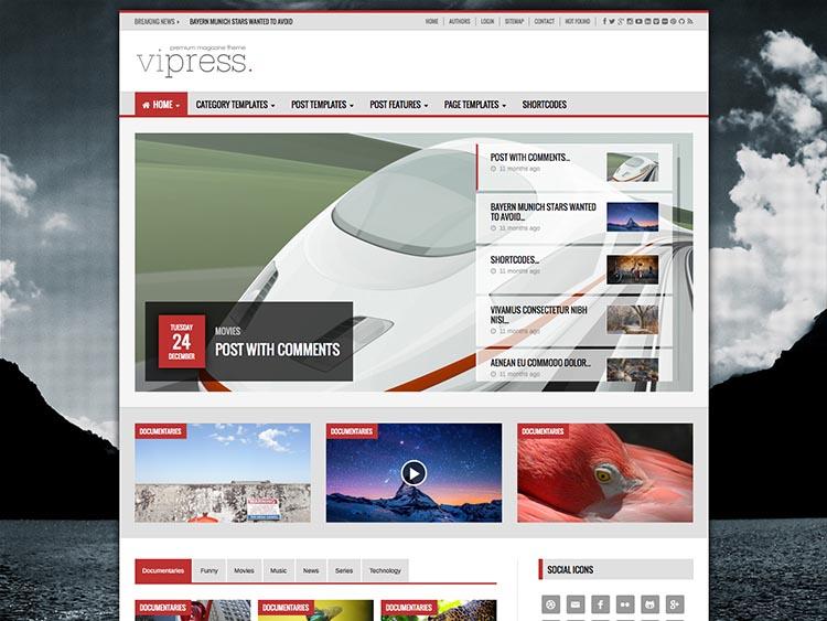 ViPress - Best WordPress Video Magazine Themes