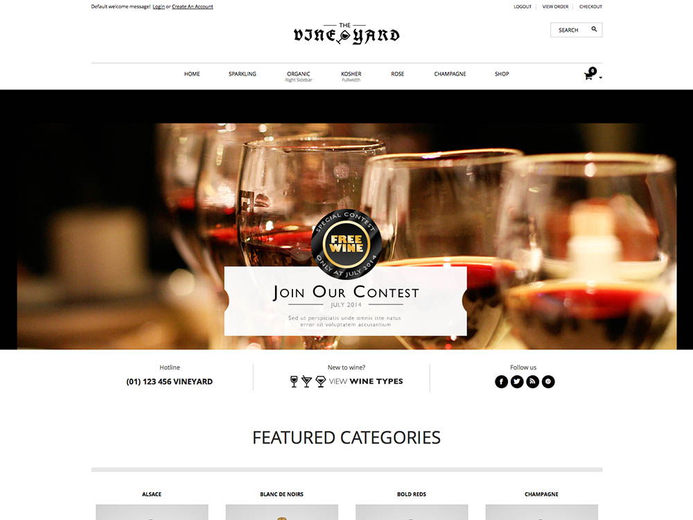 WineStore - Best WordPress Wine Themes