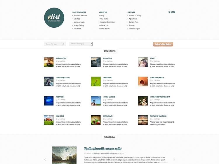 18 best wordpress business directory themes for 2018 siteturner elist best wordpress business directory themes cheaphphosting Gallery