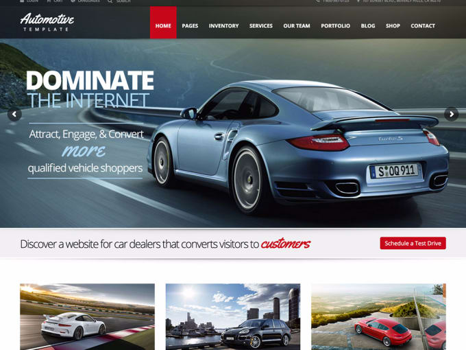 WordPres Car Dealership theme on Fiverr