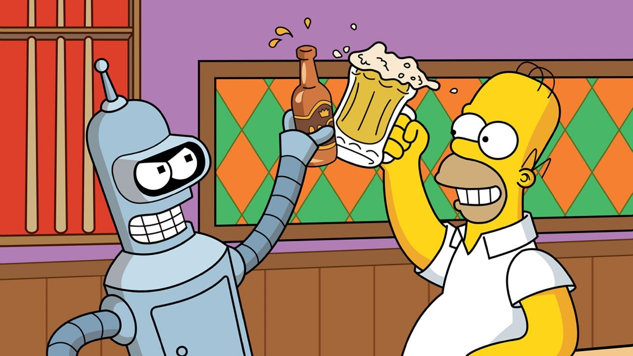 homer-bender-the-simpsons-and-futurama-set-for-crossover-in-november