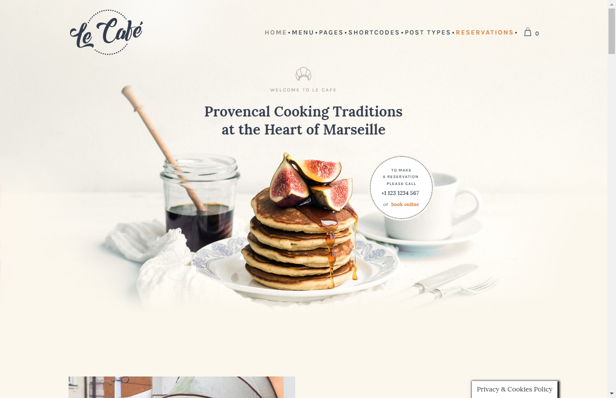 le cafe wordpress coffee shop theme