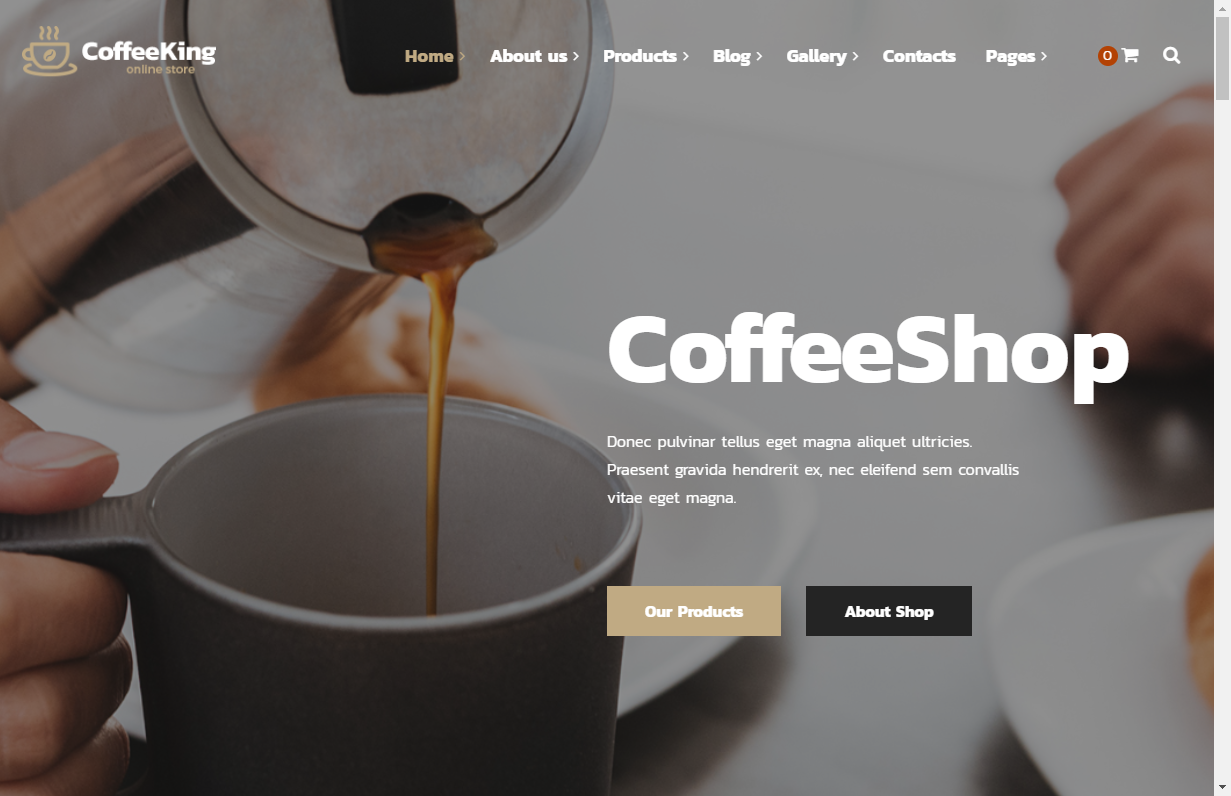 coffeeking wordpress theme