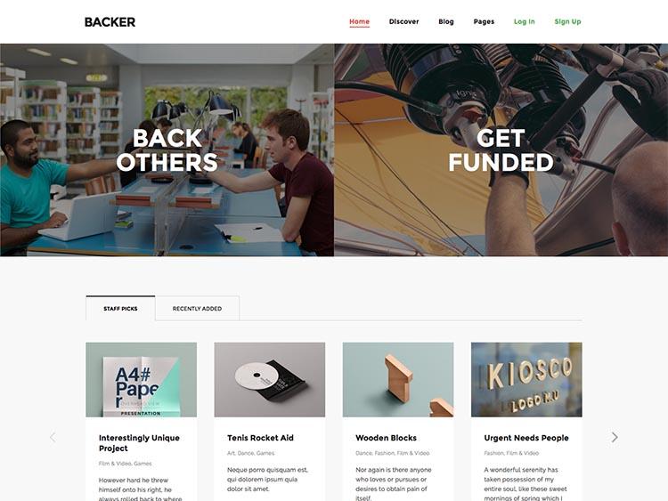 The best WordPress Kickstarter style crowdfunding theme