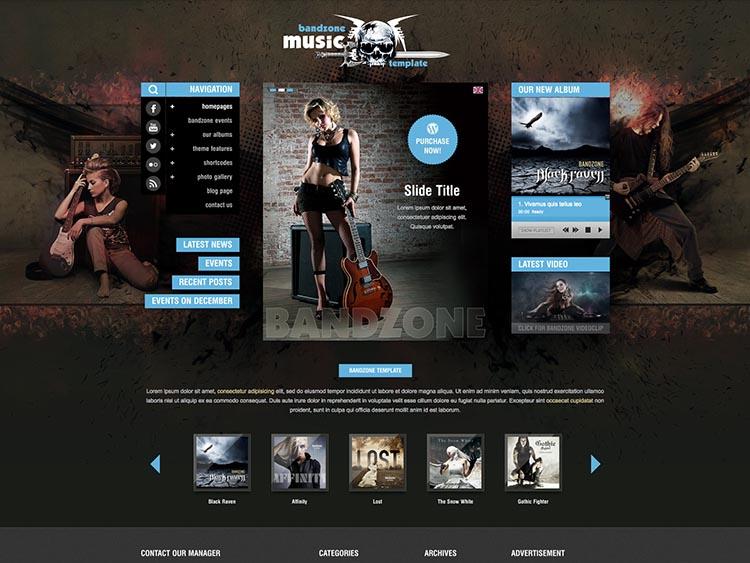 Bandzone Band Theme for WordPress