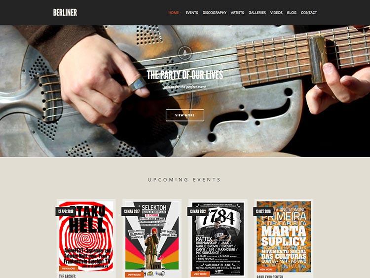 22+ Best WordPress Musician & Band Themes for 2018 - Siteturner