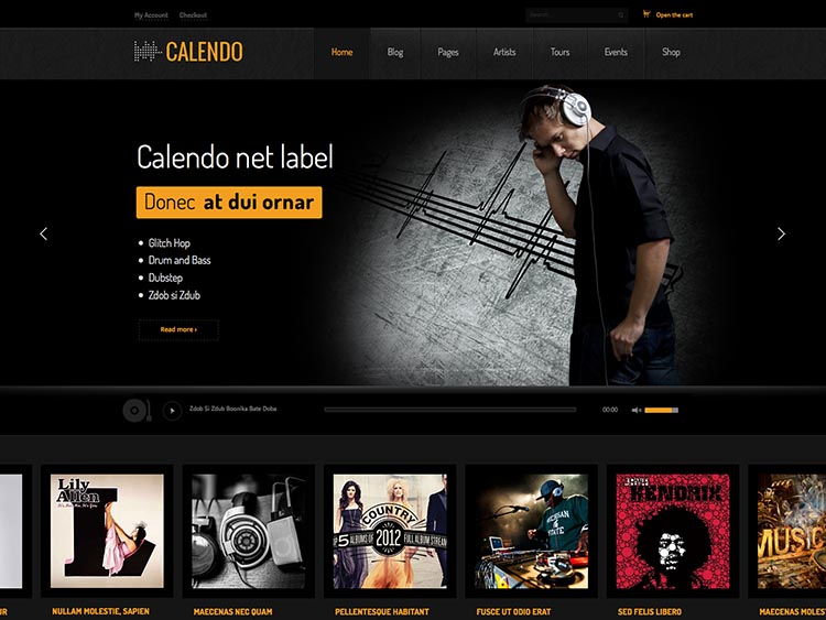 Calendo Music and Band Theme