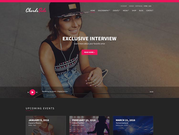 Chords Multipurpose Music Theme