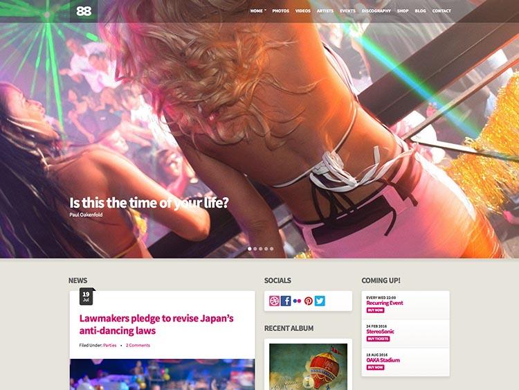 Club88 WordPress Music and DJ Theme