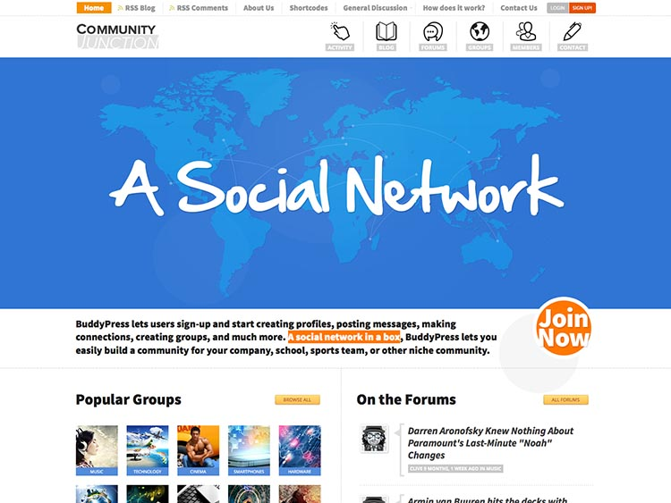 Community Junction Social Network Theme