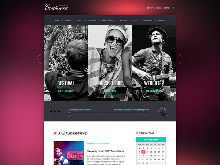 Beat Heaven WordPress Theme