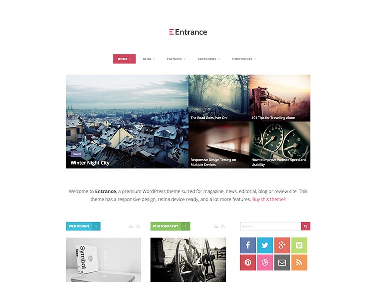 Entrance WordPress Theme