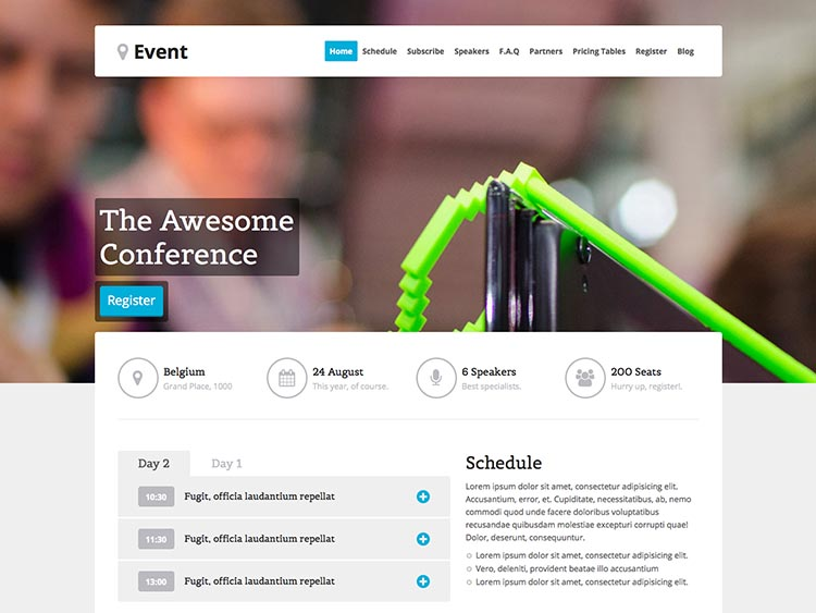 Event - Best Conference & Event Themes for WordPress